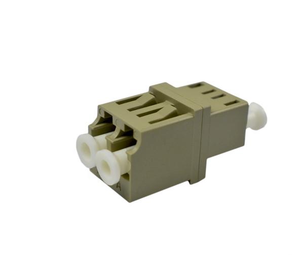 PFP LC Adapter Multimode Duplex, Beige, LC Mount, Metal Sleeve