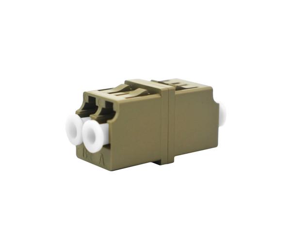 PFP LC Adapter Multimode Duplex, Beige, Mirror Image, Metal Sleeves