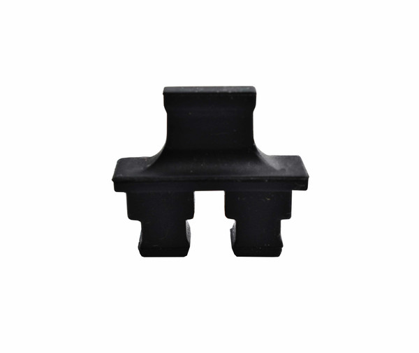 SC Adapter Dust Cap, Duplex, Black Rubber type