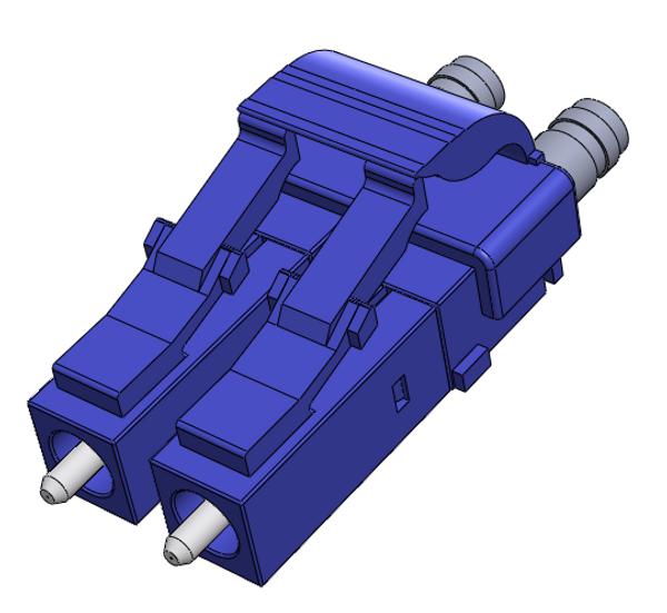 LC Singlemode Connectors, Duplex