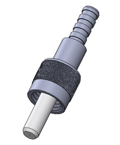 SMA 905 Ceramic Fer Connector, SM - Nickel plated Brass