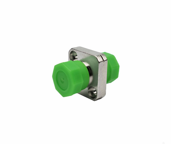 PFP SM FC/APC - FC/APC  Adapter, Square Mount, 2.03 - 2.08mm narrow Key, Green threaded Caps