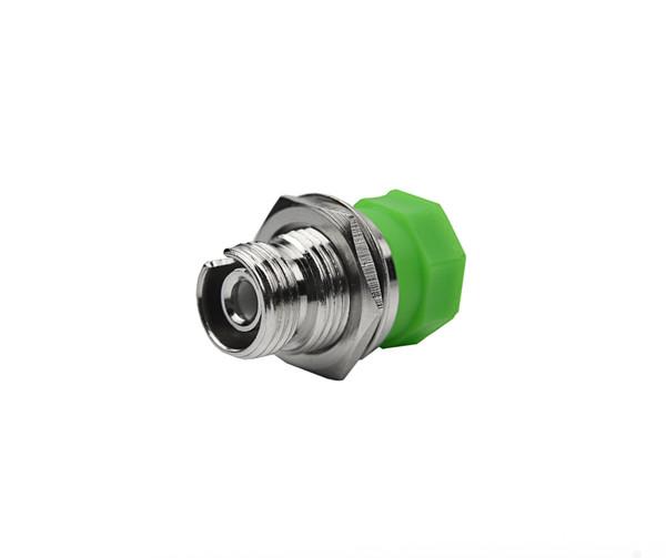 PFP SM FC/APC - FC/APC Adapter, Single D Mount, 2.03 - 2.08mm Narrow Key, Green threaded caps