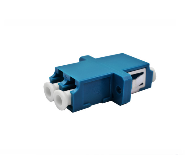 PFP LC Singlemode Duplex Adapter, Blue Housing, Ceramic Zirconia Sleeve, SC Mount
