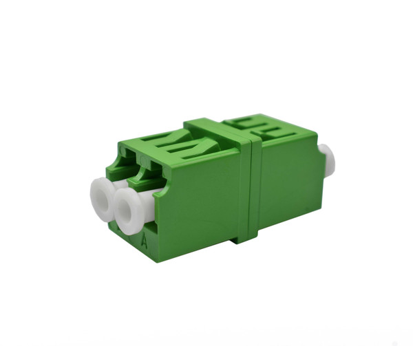 PFP LC APC Mirror Image Singlemode Adapter Duplex, Green Housing, Ceramic Zirconia Sleeve