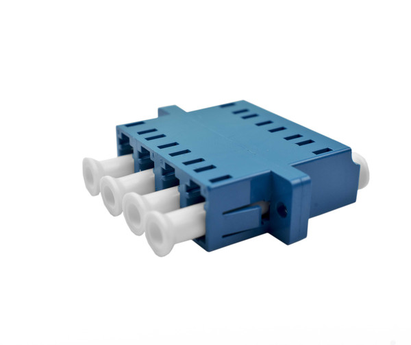 PFP LC Singlemode Quad Adapter, SC Mount, Blue Housing, Ceramic Zirconia Sleeve