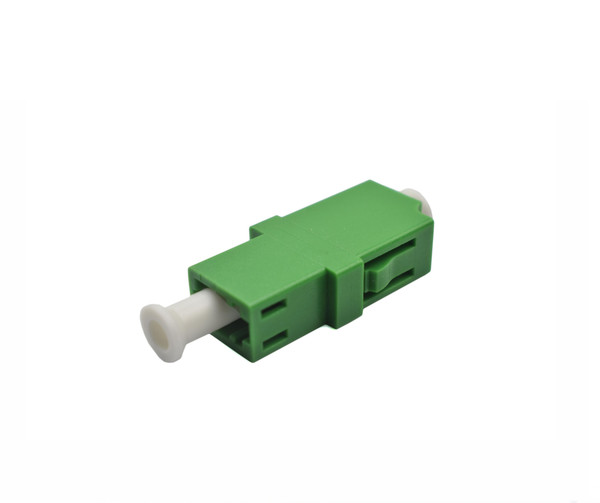 PFP LC APC Adapter Singlemode Simplex, Green Housing, Singlemode, Ceramic Zirconia Sleeve