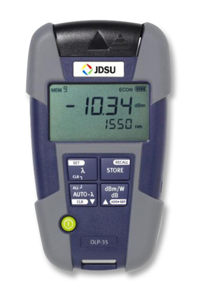 OLP-34 JDSU 2302/11 SmartPocket Optical Power Meter w/Data & USB