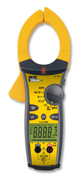 Ideal 61-773 TightSight TRMS AC Clamp Meter / Ammeter, 1000A