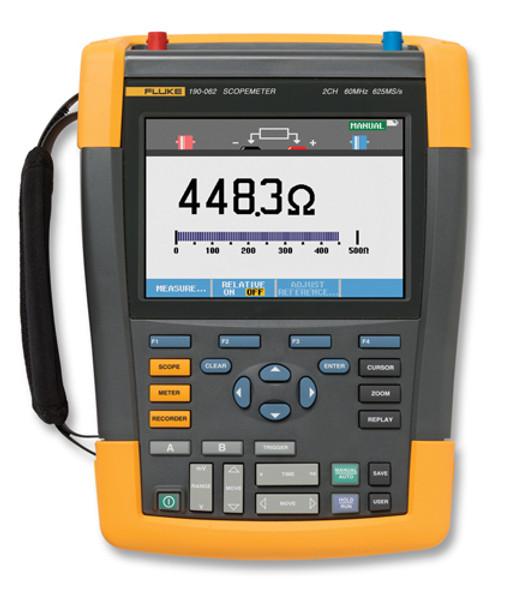 Fluke 190-202/AM/S ScopeMeter Ser II Oscilloscope 200MHz 2Ch Kit