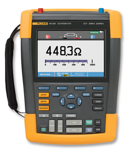 Fluke 190-102/AM/S ScopeMeter Ser II Oscilloscope 100MHz 2Ch Kit