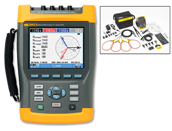 Fluke 434-II Three-Phase Power Quality & Energy Analyzer