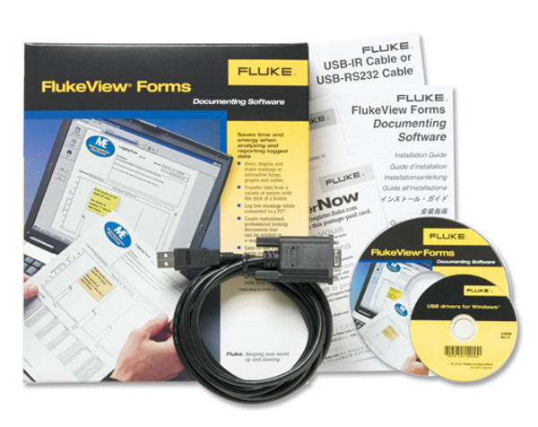 Fluke FVF-SC2 FlukeView Forms Software w/ USB Cable