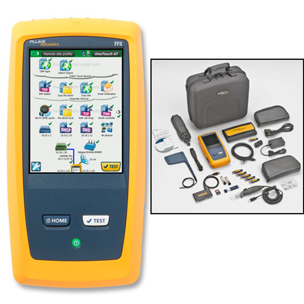 Fluke Networks 1T-3000-FI OneTouch AT CU/Fiber LAN/WiFi/IL/Probe