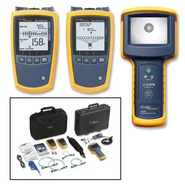 Fluke Networks MFTK1400 MultiFiber Pro MPO Test & Inspection Kit