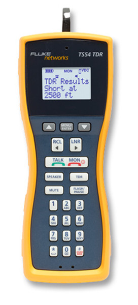 Fluke Networks TS54-BANA Test Set w/TDR & Banana/Alligator Cord