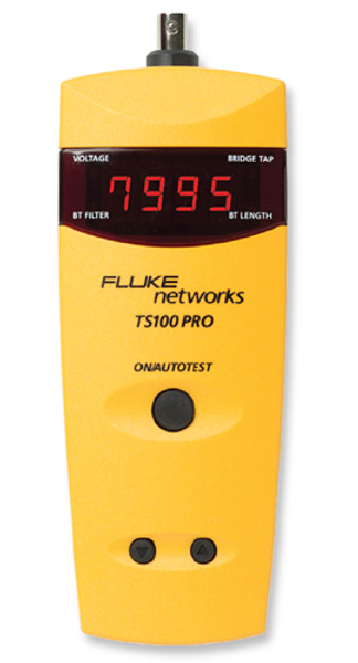 Fluke Networks TS100-PRO-BT-TDR Cable Fault Finder w/ ABN, TDR