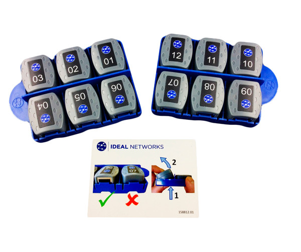 IDEAL 158050 #1-12 RJ-45 Remotes for the VDV II Cable Tester