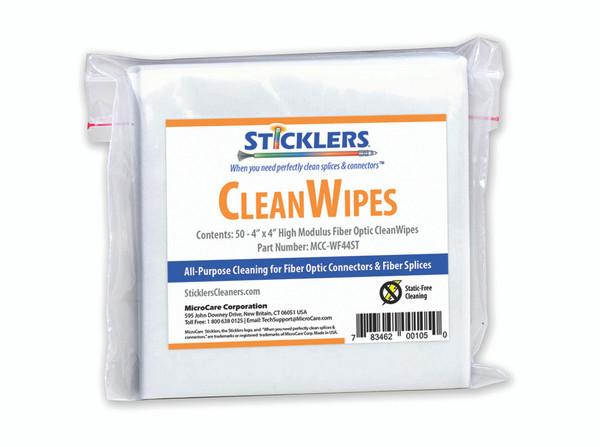 PFP Sticklers CleanWipes Fiber Optic Wipes MCC-WF44