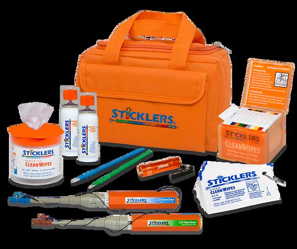 Deluxe High-Volume Fiber Optic Cleaning Kit Orange Bag