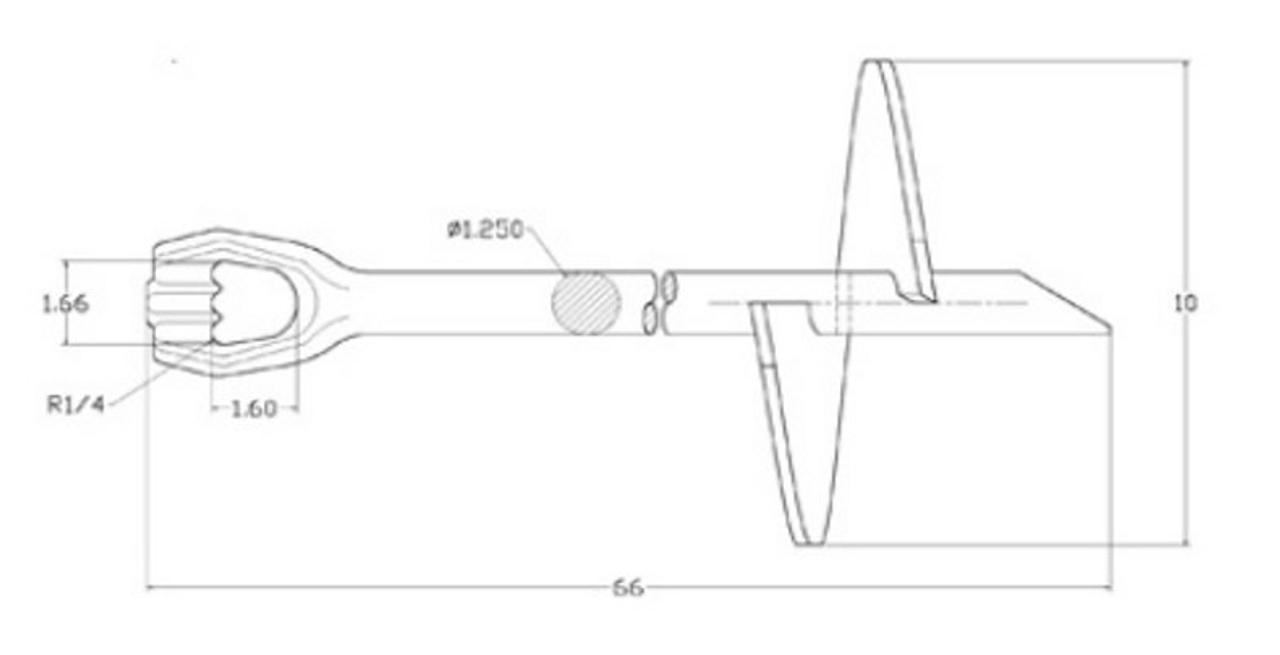 "Heavy Duty 1/'/' x 66″ with 10″ Helix ""Galvanized"" Screw Anchor"