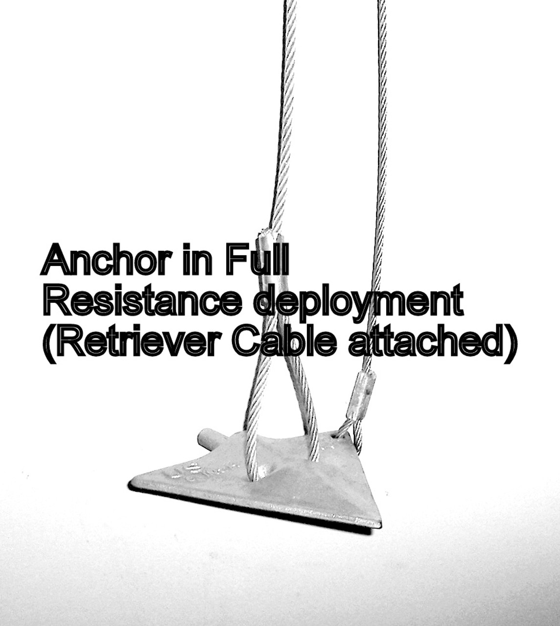 6'' Ground Anchor Assembly with Retriever Cable