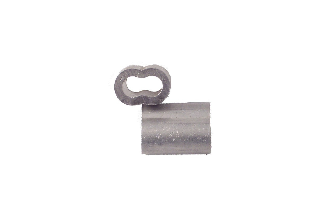 """1/4"""" Aluminum Swage Sleeves QTY-25"""