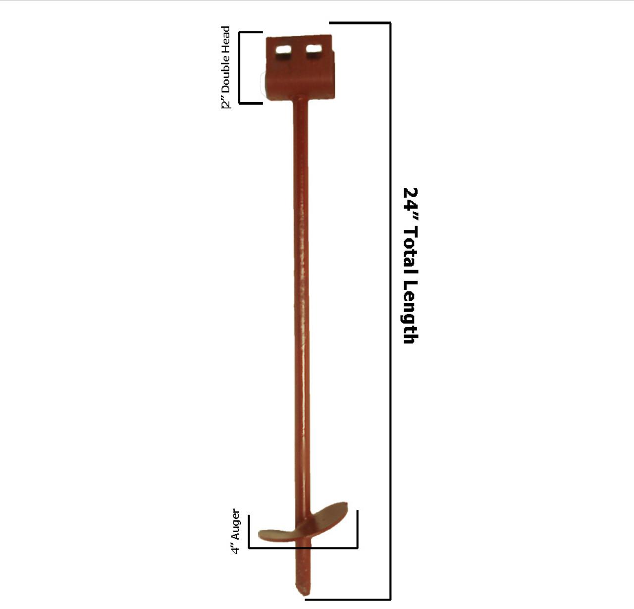 5/8'' x 24'' HDPE Pipe  Anti Flotation Anchor