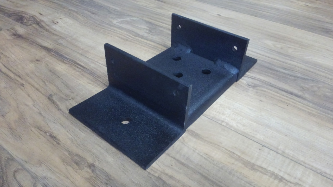Powder Coated Structural Steel 6x6 Post Base Milspec Anchors