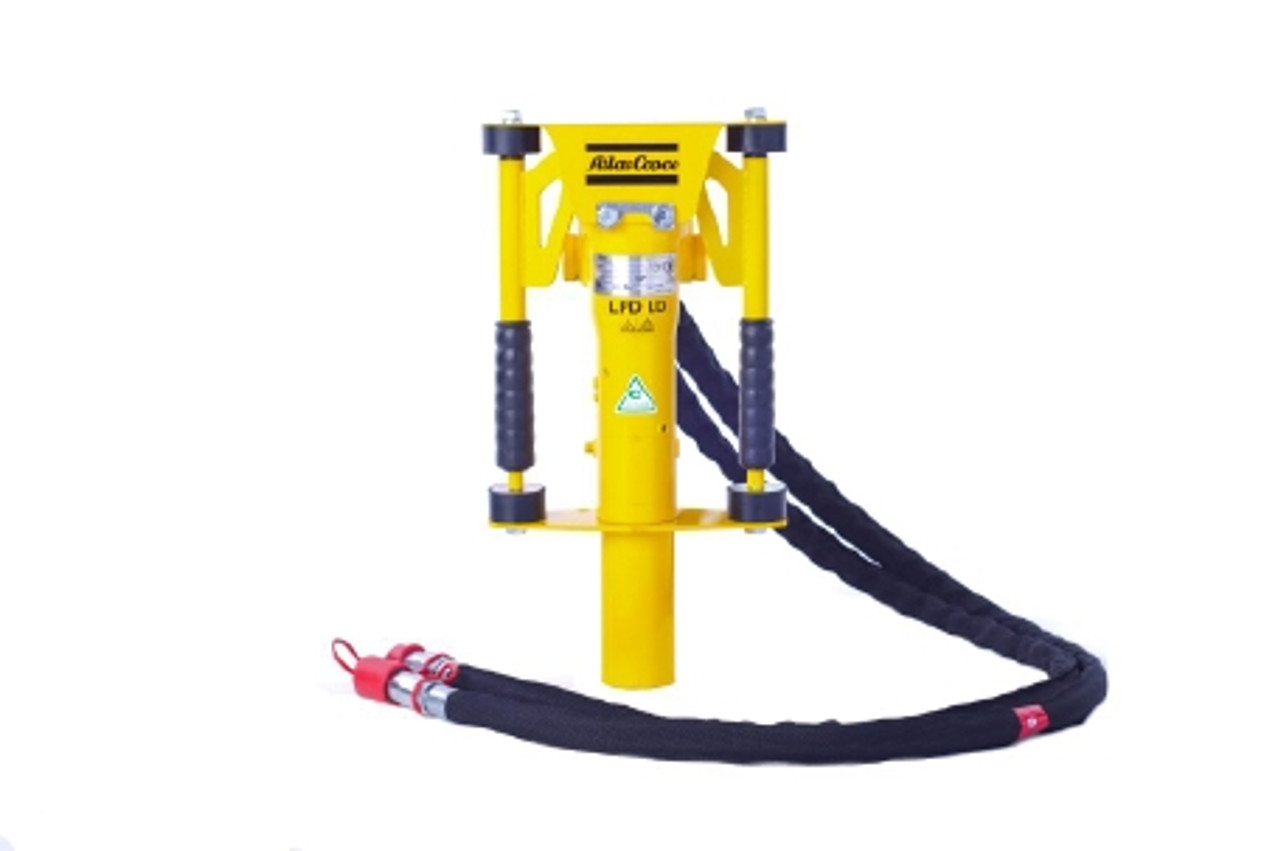 LPD-LD-T: Hydraulic post driver with handle lever