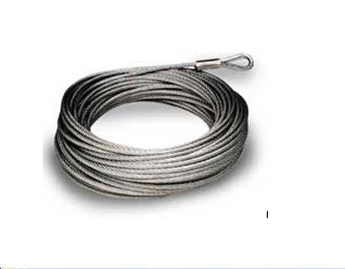 """ATV 3//16/"""" x 50/' Gal Steel Winch Replacement Cable"""