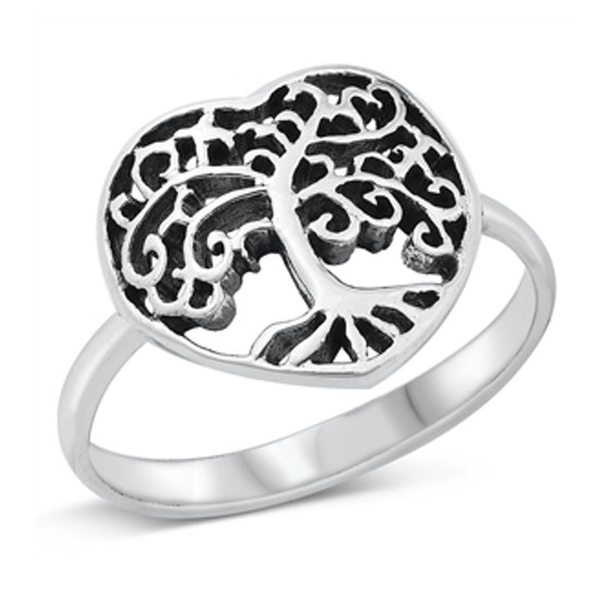 Quality 925 Sterling Silver Ring - Tree of Life
