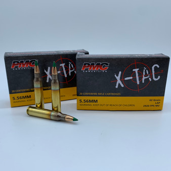 PMC X-Tac - 5.56x45mm - 62 Grain Green Tip LAP - 100 Rounds