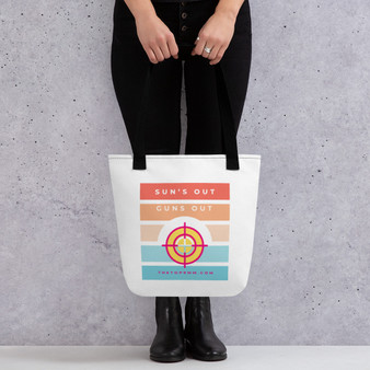 Sun's out, guns out tote