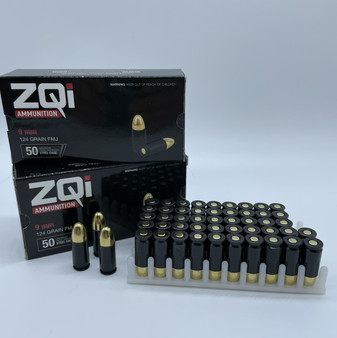 Father's Day Special! ZQi - 9mm - 124 grain - Black Steel Case - FMJ - 100 Rounds