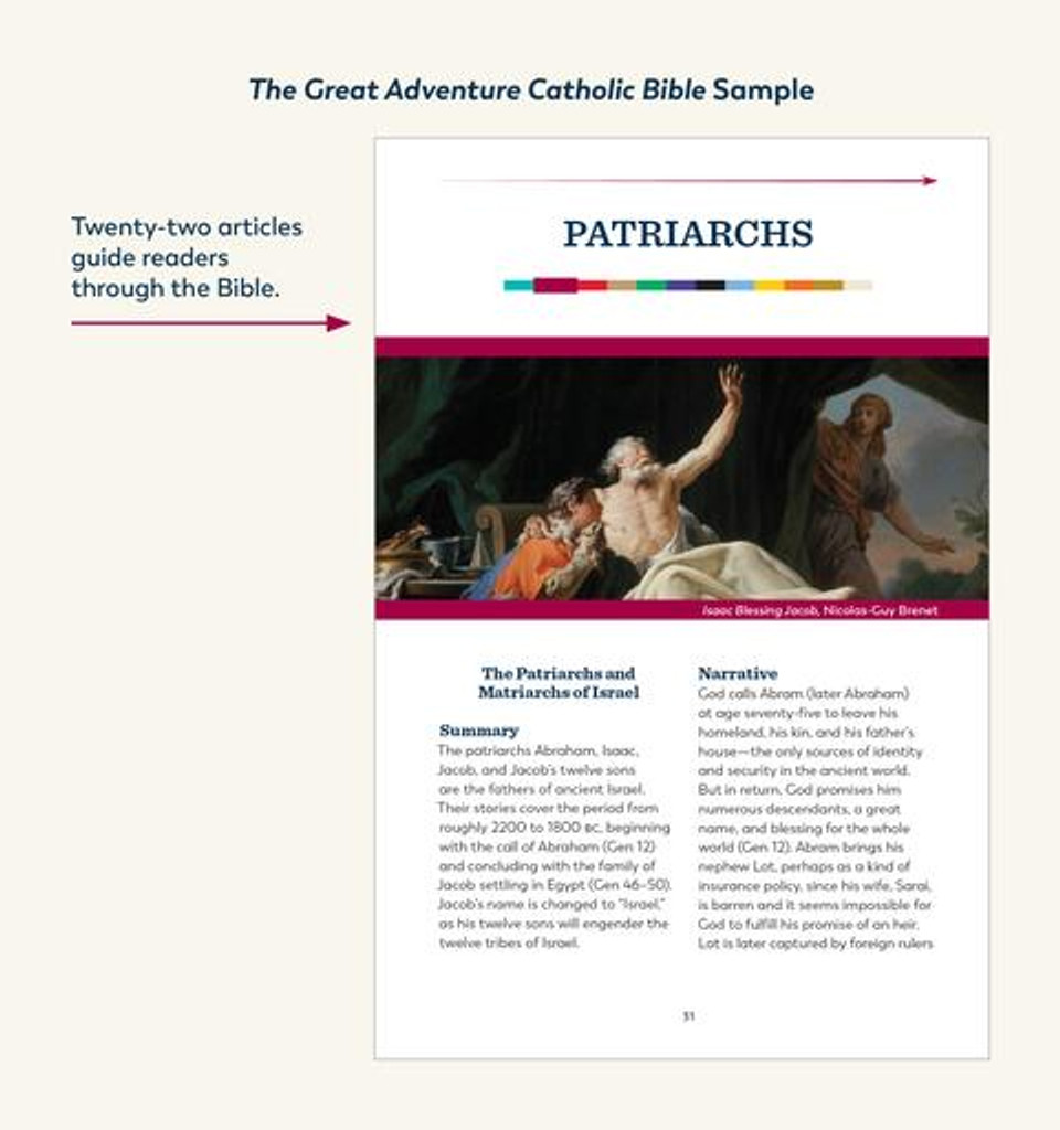 The Great Adventure Catholic Bible - Jeff Cavins - Ascension