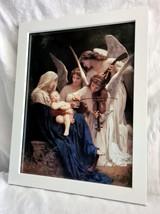Mary, Jesus & Angels - Framed Artwork - White