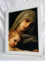 Virgin Mary & Child - Framed Artwork - White
