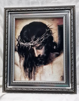 Crowned with Thorns - Framed Artwork - Silver