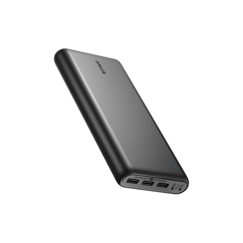 Anker PowerCore 26800mAh Power Bank with Dual Input Port and Double-Speed Recharging, 3 USB Port External Battery - Black