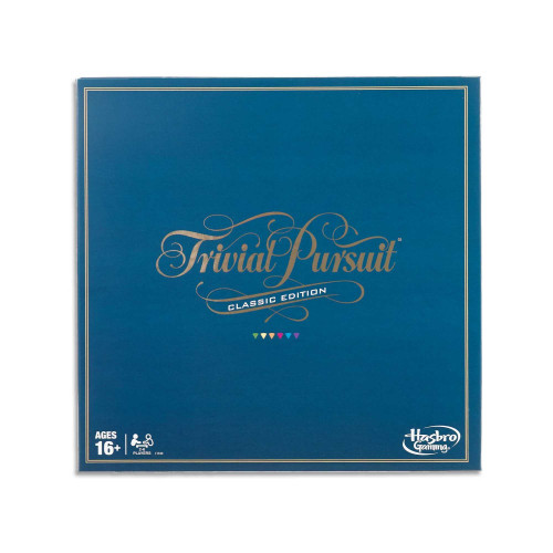 Trivial Pursuit Classic Edition 2 to 6 Players - Adult Board Games - Ages 16+