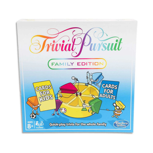 Trivial Pursuit Family Edition 2 to 6 Players - Quick-play Trivia Board Games - Ages 8+