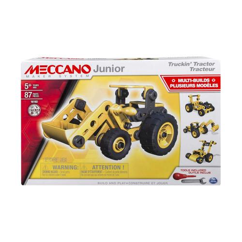 Meccano Junior Truckin' Tractor Toy Vehicle Building Kit