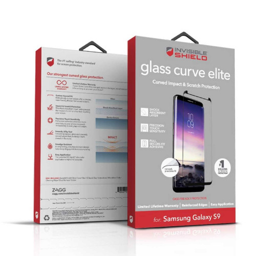 InvisibleShield Tempered Glass Curve Elite for Samsung Galaxy S9