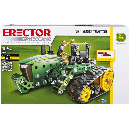 Erector By Meccano John Deere 9RT Series Tractor STEAM Building Kit