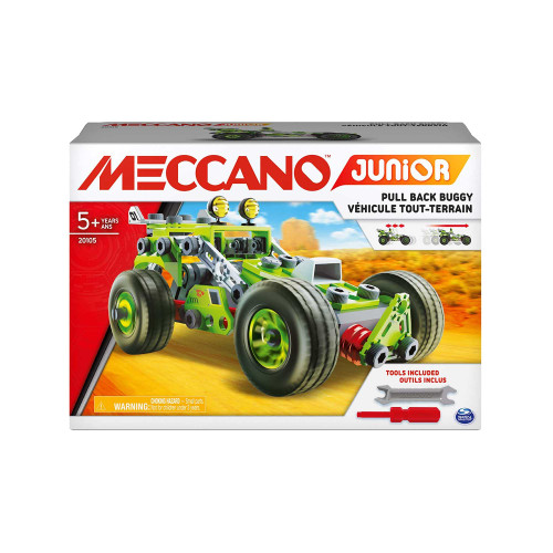 Meccano Junior 3-in-1 Pull Back Buggy Vehicle Building Kit