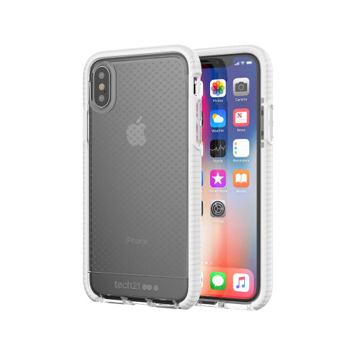 Tech21 Evo Check Case for iPhone X Xs - Clear/White