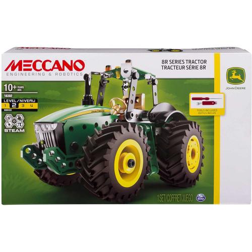 Meccano John Deere 8R Series Tractor Model Building Kit