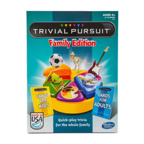 Trivial Pursuit Family Edition 2+ Players - Quick-play Trivia Board Games - Ages 8+