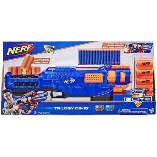 Nerf N-Strike Elite Trilogy Pump Action Blaster 3-Dart Shells